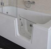 Tiefer Einstieg bei Badewanne mit Tür der Firma Börsting GmbH