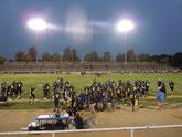 開幕戦は大学内のスタジアムで開催