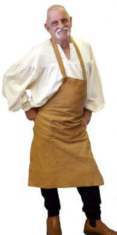 Brown Suede Apron, Hand-made