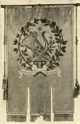 Rückseite der Chorfahne von 1884