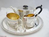 Antike versilberte Teeservice aus England