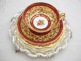 Edle Porzellan Teeservice und Teegedecke aus England