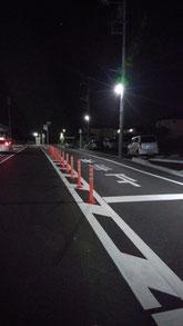 街灯が設置された後 明るくなった八街市榎戸駅西口