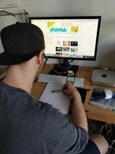 Praktikant Dustin Hoffmann schminken lernen graffiti zeichnen