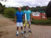 Sieger Jakunin und Finalist Pfeiffer