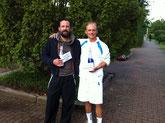 Finalist Kreyenhagen und Sieger Jakunin