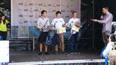 Kai Zähringer (Tagessieger) und Robin Mennet (3.) über 10km.