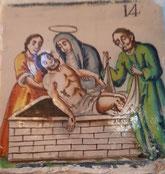 XIV Estación, Jesús es colocado en sepulcro