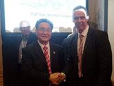 Prof. Ju-Ho Chang & Chris Hemstock (Chairman des WMAGC)