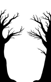 Schritt 2 - Bäume in schwarz