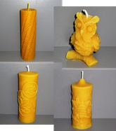 Kerzen, Bienenwachskerzen, Bienenwachs