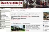 Kandertalbahn von Kandern nach Weil am Rhein Haltingen