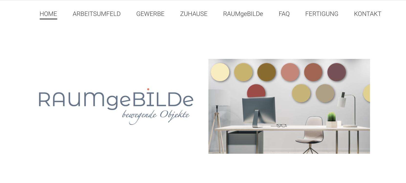 Homepage von Raumgebilde
