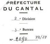 Accords de la Préfecture