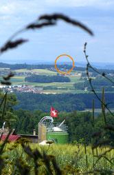 """""""Blick zurück"""" über den Wachtersberg"""