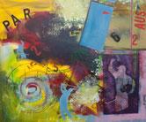 """""""Yes"""" 2011 120x100cm Acryl"""