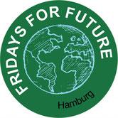 Fridays for Future FfF Hamburg Klimastreik Avatar Logo #KlimastreikHH