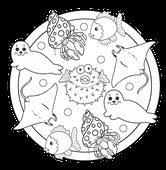PDF-Mandala-Lebkuchen-Männchen
