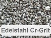 Chromgrit, Cr-Grit, Edelstahlkies, Edelstahl kantig, Edelstahlstrahlmittel, Chromstrahlmittel