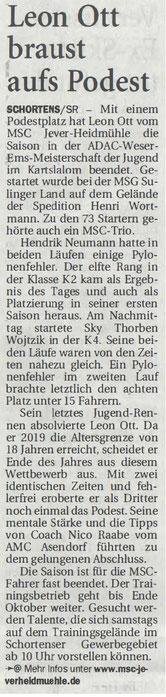 Nordwest Zeitung 05.09.2019