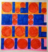 Ellen Roß, squares & circles, 2018, Arbeitsblatt
