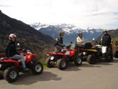 Quad Tour mit Aussicht auf Thunersee im Berner Oberland