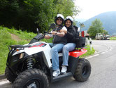 Take a passenger on an ATV tour Swiss Alps