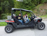 Join the tour with the family ATV