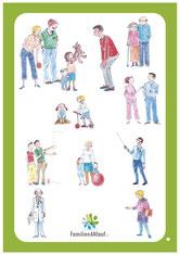 Familienangehörige, Mutter, Vater, Kinder, Stiefvater, Oma, Opa, Sozialarbeiter, Ärztin, Jugendklubmitarbeiter, Lehrer, Mitschüler