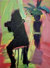 "Anton PETZ,  ""o.T."" (Figur sitzend) Öl / Leinwand,  30x40cm"