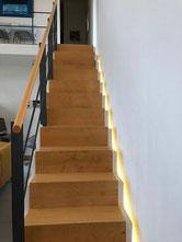 Eclairage par ruban led escalier maison à Allauch 13190