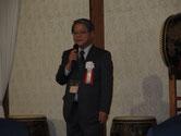 レセプションで開会の挨拶をされる中国本部の木口副本部長