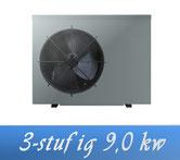 Link 3-stufige Inverter 9,0 kW 230V von Holter Wärmepumpe Poolheizung
