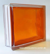 BRILLY Orange 1919/8 Wave Kräftige Farben Strong Shades Basic Glasbaustein Glass Blocks Glasstein Glasbausteine Glassteine Glasbausteine-center glasbausteine-center.de seves стъклени блокове стеклоблоки склоблоки steklenih zidakov шклаблокі bloic ghloine