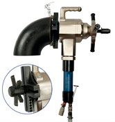Elbow shaft portable pipe beveling machine
