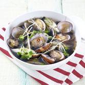 海苔とあさりの韓国風スープ
