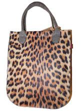 Filztaschen mit Leopardenmuster