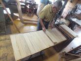 総桐箪笥製作、裏板木取