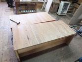 名古屋市よりリフォーム依頼の桐たんすの裏板の割れ修理をしました。