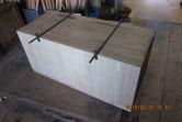上置きの裏板がベニヤ板の為、桐板に交換修理しました。