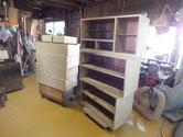 岐阜市より修理依頼の桐たんすのヤシャ仕上げと乾燥です。