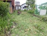 三月に隣家を購入し草が茂っている為、草刈り機で刈りました。梅雨の為これからが大変です。