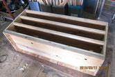胴縁、棚板面に鉋をかけ接地面を作る修理完了です。