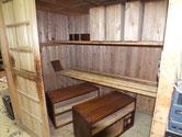 北海道より修理依頼の時代箪笥の木地調整を終え漆塗りをしました。後は塗を重ねます。