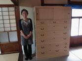 名古屋市のお寺様より修理依頼の桐たんすを納品して来ました。