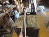 弓反り台輪を薄板にしてもまだ反っています。