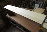 桐タンス修理、柾板張り