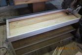 胴縁、棚板の桐板が乾き台輪の作成をしました。