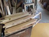 帳場箪笥の上置きを完全分解しました。木地出し作業もしました。