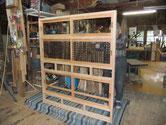 水屋戸棚のほぞ調整か゛終わり引戸の建付け調整が終わりました。結果は上々です。